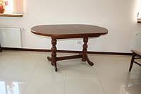 """Стіл з дерева """"Гірне 4"""" 1350(1750)х800 овал, фото 1"""