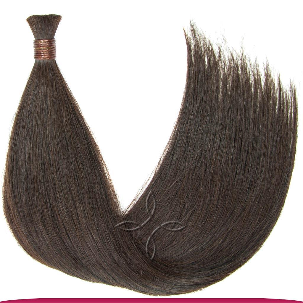 Натуральные Славянские Волосы в Срезе 70 см 100 грамм, Шоколад №03