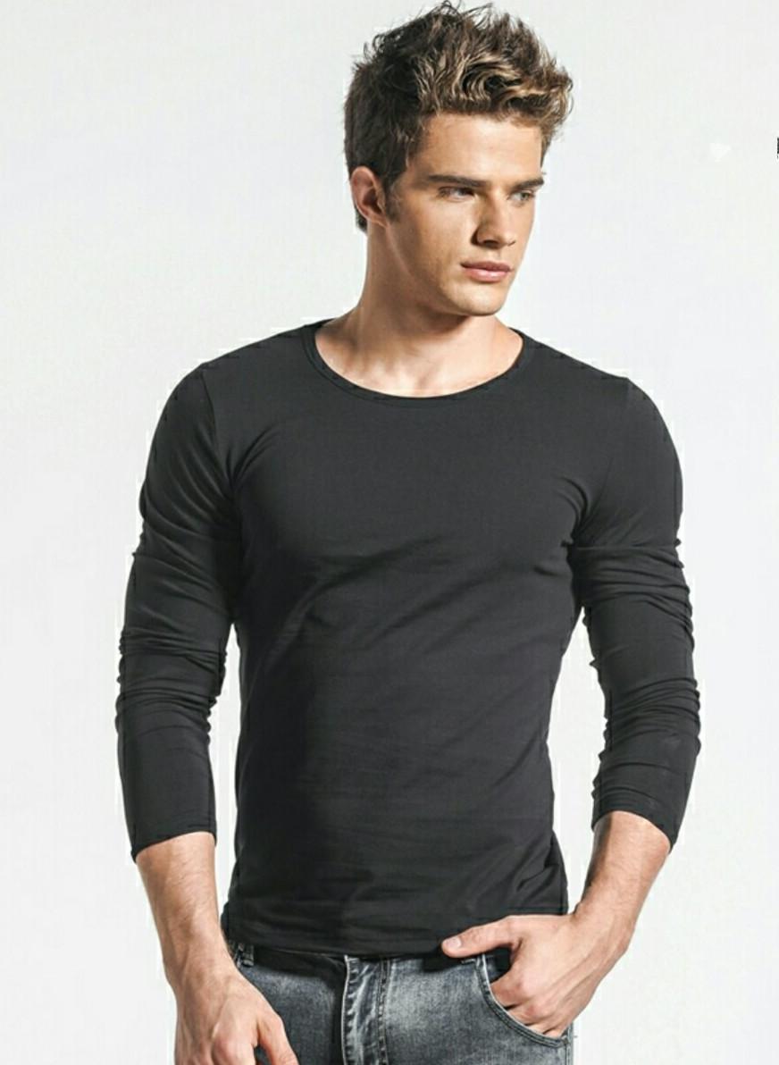 """Мужская футболка Хлопок Марка """"DOOMILAI"""" Арт.1912(черный)"""