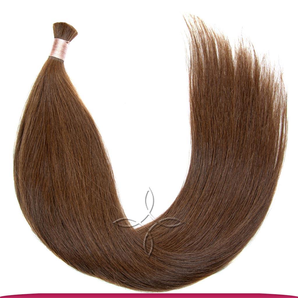 Натуральные Славянские Волосы в Срезе 50 см 100 грамм, Шоколад №04