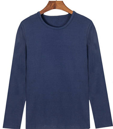 """Чоловіча футболка Бавовна Марка """"DOOMILAI"""" Арт.1913(синя), фото 2"""