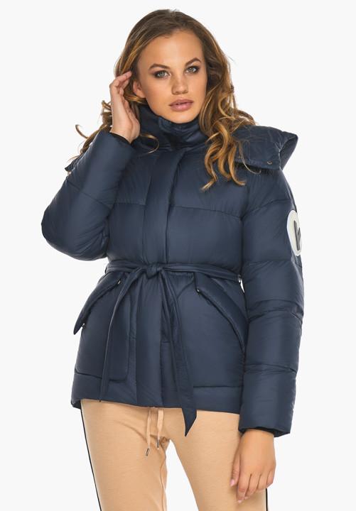 Женская куртка зимняя Youth 24350   Курточка синяя женская короткая на зиму