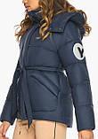 Женская куртка зимняя Youth 24350   Курточка синяя женская короткая на зиму, фото 8