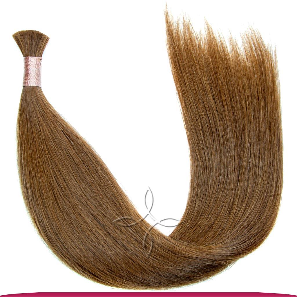 Натуральные Славянские Волосы в Срезе 50 см 100 грамм, Шоколад №05