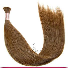 Натуральные славянские волосы в срезе 65-70 см 100 грамм, Шоколад №05