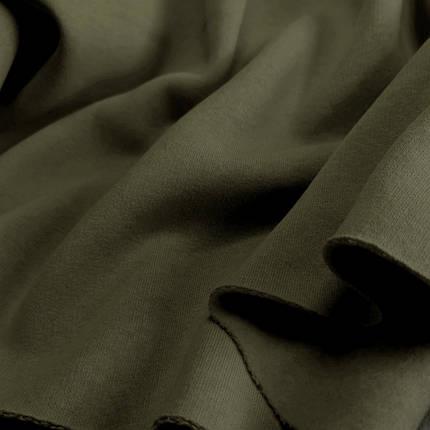 Футер трехнитка с начесом хаки, Турция, фото 2
