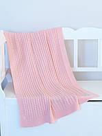 Плед детский вязаный 90x90 BETIRES SOFI PINK 2020 (80% хлопок, 20% полиэстер) розовый