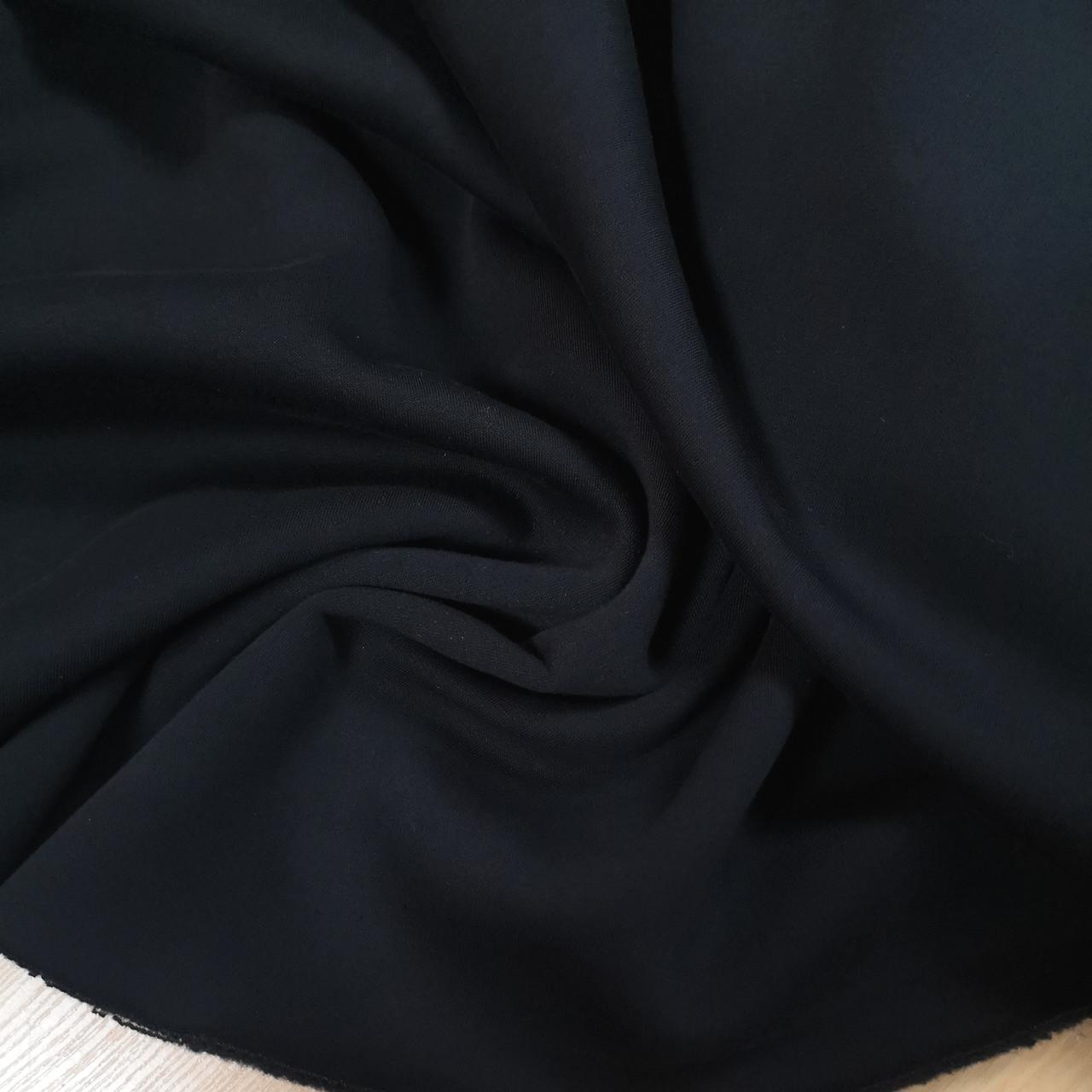Футер трехнитка с начесом темно-синяя, Турция