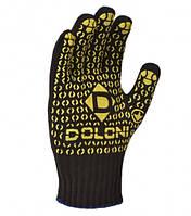 Перчатки трикотажные черные DOLONI
