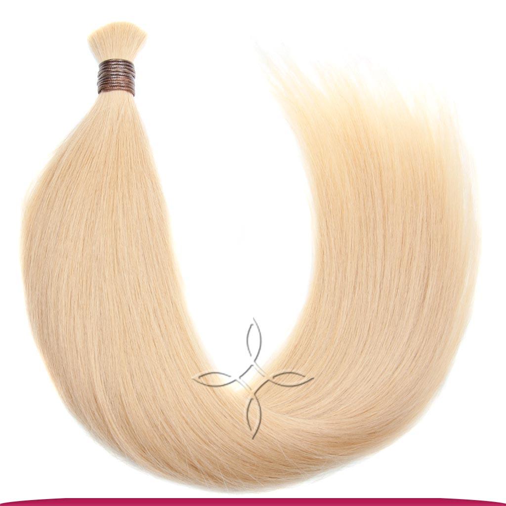 Натуральные Славянские Волосы в Срезе 60 см 100 грамм, Блонд №101