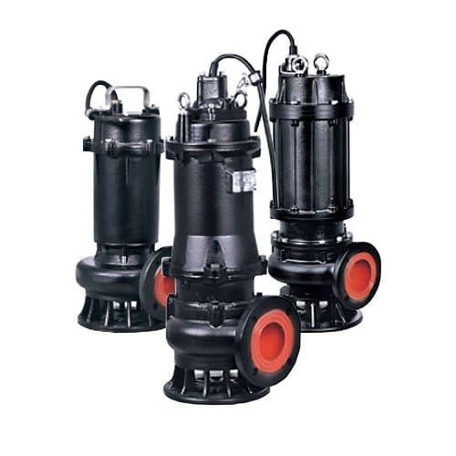 Насос Фекальный LEO 100WQ65-15-5.5, 7.5 кВт для Выгребной Ямы, Трехфазный