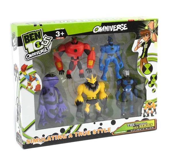 Набор фигурок космические пришельцы Омнитрикс Бен 10 со световым эффектом - Aliens, Omnitrix, Ben 10, Bandai
