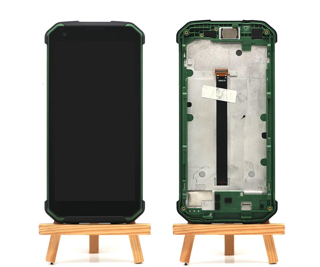 Дисплей + сенсор с передней панелью для Blackview BV9500 Green