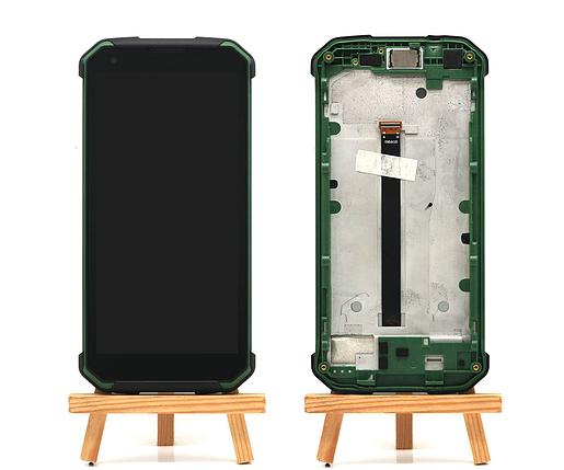 Дисплей + сенсор с передней панелью для Blackview BV9500 Green, фото 2