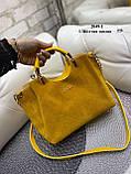 Женская сумочка комбинированная нат.замша/кожзам, фото 4