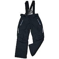 Детские зимние штаны на лямках полукомбинезон термо 116 рост черный