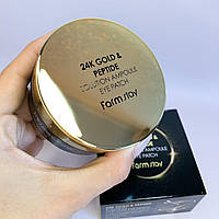 Антивозрастные патчи с частичками золота и пептидами FarmStay 24K Gold Peptide Solution Ampoule Eye Patch   60