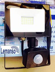 Светодиодный прожектор со встроенным датчиком движения 30 ват IP65  LEMANSO   LMPS36