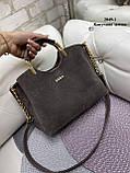 Женская сумочка комбинированная нат.замша/кожзам, фото 10