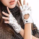 Кожаные перчатки с сердечками, фото 5