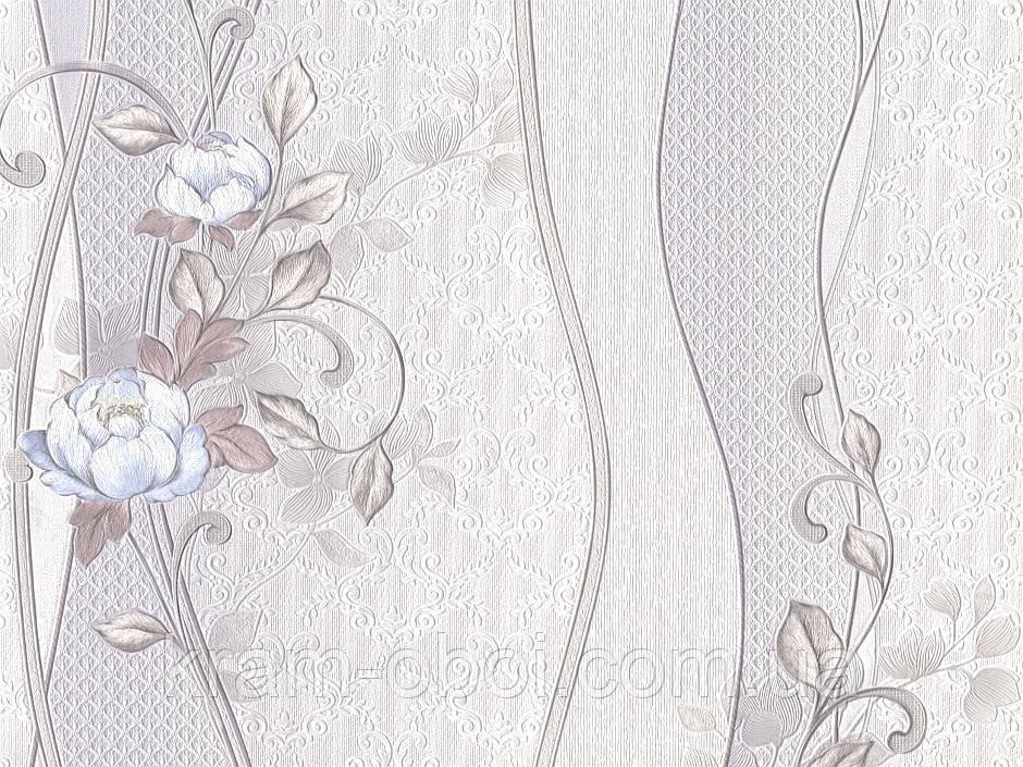 Обои КФТБ бумажные дуплекс 10 м*0,53 9В64 Пион 8164-10