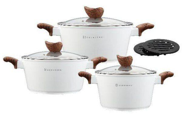 Набор посуды  Edenberg EB-7424 8 предметов с мраморным покрытием