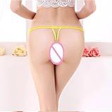 Откровенные женские стринги с бусинками, фото 8