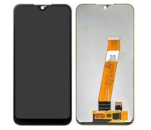 Модуль для Samsung Galaxy A01, Samsung A015, черный, дисплей + сенсор