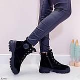 Только 38 р 24 см! Женские ботинки ЗИМА черные натуральная замша, фото 6