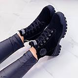 Только 38 р 24 см! Женские ботинки ЗИМА черные натуральная замша, фото 5