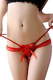 Женские стринги - розочка, фото 2