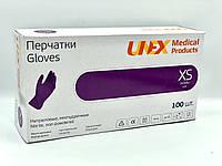 Перчатки нитриловые Сиреневые Unex размер XS