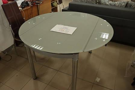Стол обеденный стеклянный круглый от Signal с витрины, фото 2