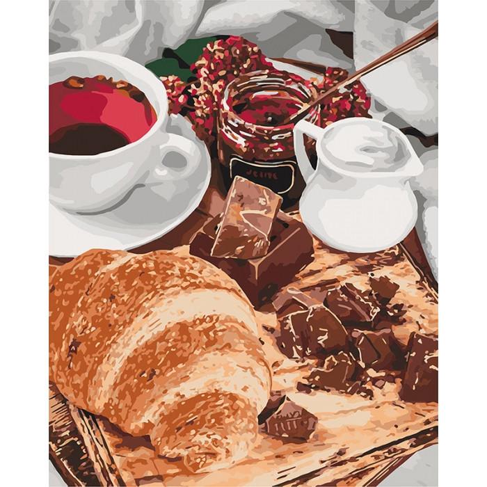 """Картина по номерам 40*50см """"Французький сніданок"""" Ідейка КНО5573"""