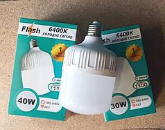 Мощные LED лампа 30w T100 E27 Flash 6400K 3000Lm