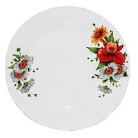 """Тарелка """"Полевые цветы"""" керамика (20 см.)"""