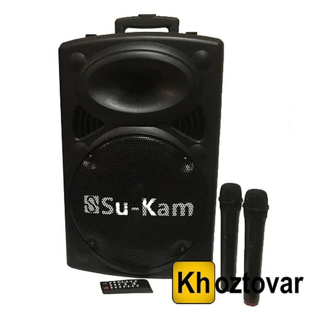 Портативна акустика з двома мікрофонами Su-Kam BT 150D | 2500W