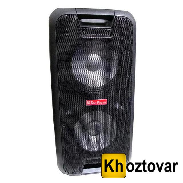 Портативная акустика с двумя микрофонами Su-Kam 1010   2000W