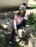 Вязаная детская шапка и снуд ручная работа., фото 2