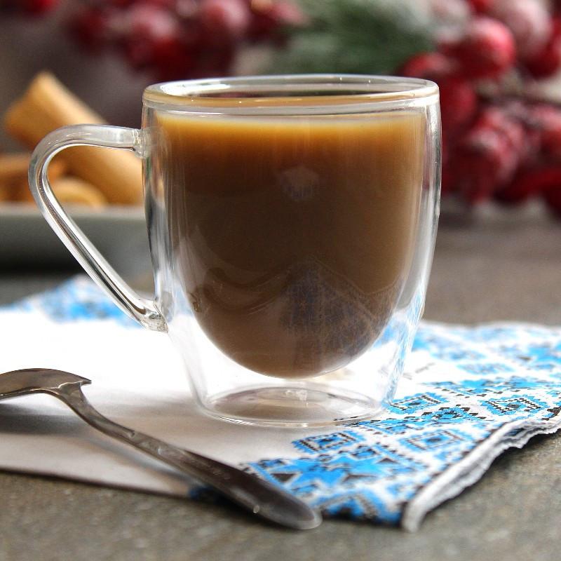 Набор чашек с двойными стенками для кофе  из боросиликатного стекла 2 шт 80 мл (6755)