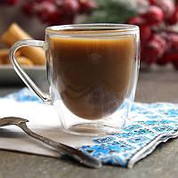 Набор чашек с двойными стенками для кофе  из боросиликатного стекла 2 шт 80 мл (6755), фото 1