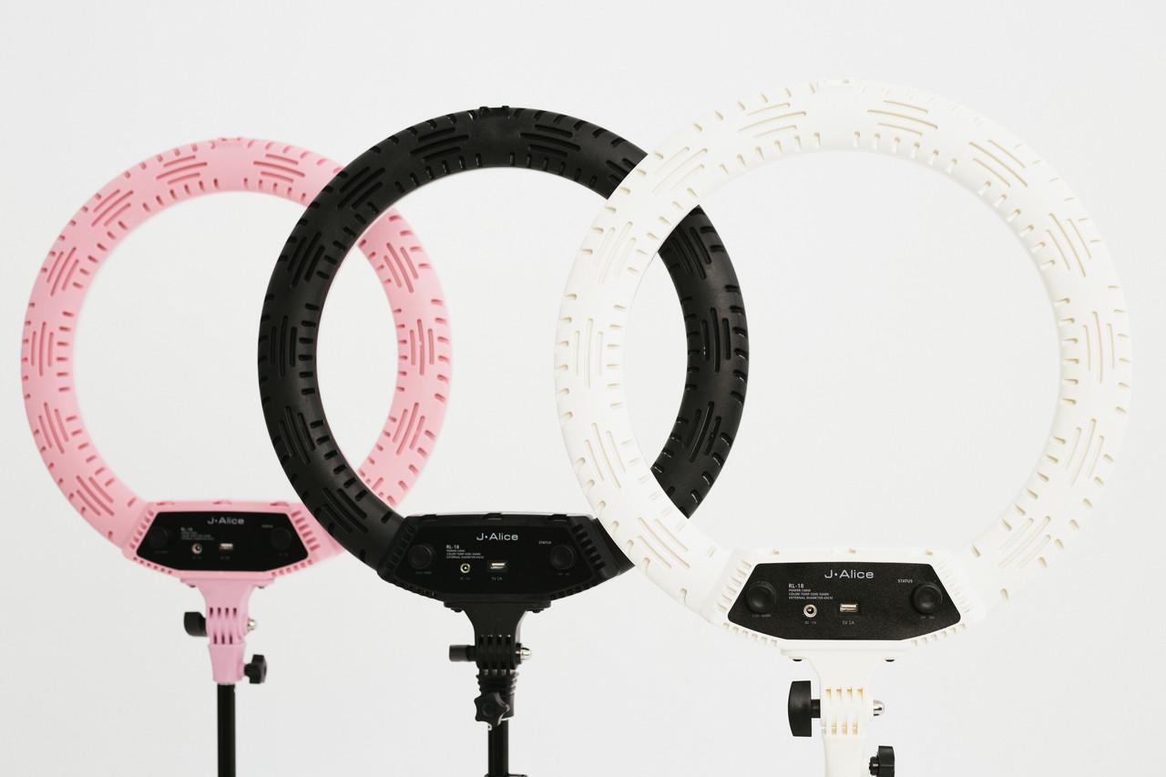 Кольцевая лампа RL-18 NEW 100W NEW 2020 c USB port