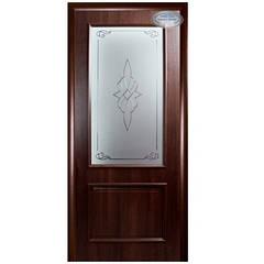 Двери Вилла ПВХ 2000* 600 мм каштан с рисунком