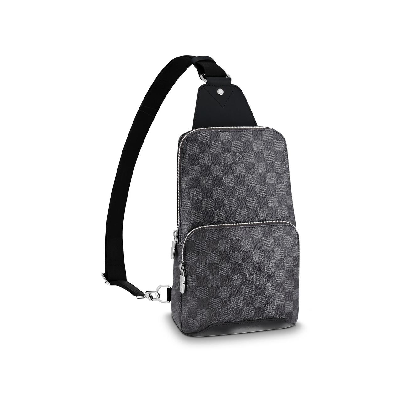 Слинг сумка Louis Vuitton Avenue 19842 серо-черная