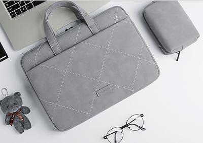 Сумка для ноутбука с мишкой Matebook 13.3, 14, 15.6  pro для Huawei, Apple, Lenovo, Asus grey