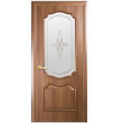 Двери Рокка ПВХ 2000 *600 мм золотая ольха с рисунком