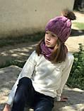 Вязаная шапка и хомут. Ручная работа., фото 2