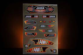 Наклейка  JAWA  (15шт, коричневый)