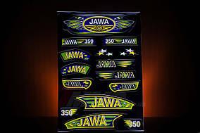 Наклейка  JAWA  (15шт, чёрный)