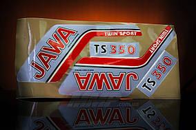 Наклейка  JAWA  (4шт, коричневый)